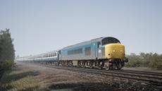 Britische Eisenbahnstrecke im Look und Feel der 80er Jahre fährt auf Train Sim World durch das Mittelgebirge der Pennines.