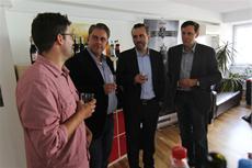 Bundestagsabgeordneter Thomas Jarzombek besucht Daedalic West-Studioeröffnung