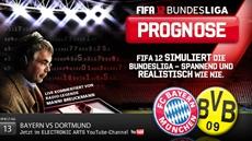 Die FIFA 12 Bundesliga Prognose präsentiert dasSpitzenspiel des Spieltags: Bayern gegen Dortmund