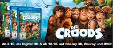 BD/DVD-VÖ   Da da daaa! DIE CROODS - diesen Herbst als Blu-ray 3D, Blu-ray, DVD und Digital HD