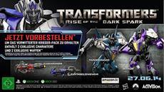 """Das """"Verwitterter Krieger""""-Paket bringt Vorbestellern von Transformers™: The Dark Spark™ je zwei exklusive Charaktere und Waffen"""