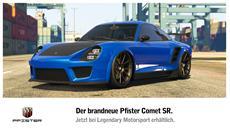 Neu in GTA Online: Pfister Comet SR jetzt erhältlich, GTA$- und RP-Boni, Rabatt auf Avenger & mehr