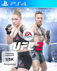 Conor McGregor an der Seite von Ronda Rousey auf dem Cover von EA SPORTS UFC 2