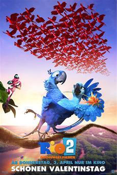 RIO 2 - DSCHUNGELFIEBER - Valentinstags-Poster